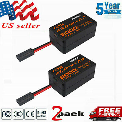 2×2000mAh Upgrate Parrot AR Drone 2.0 Battery 11.1V Li Po For PARROTAR.DRONE 2.0