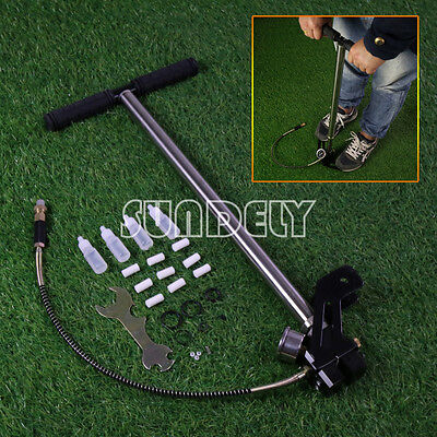 3 Stage Stirrup Charger PCP Hand Pump Air Gun Rifle Airrifle Gas Filter Gauge