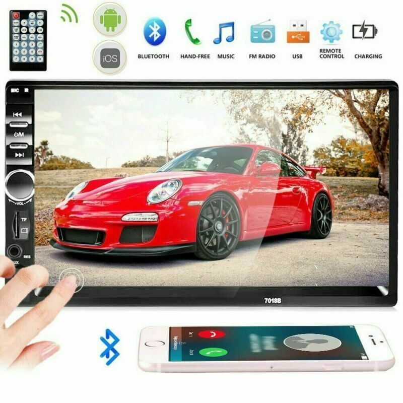 HOT 7inch 2 DIN Car Stereo Radio Touch Screen MP5 Player Bluetooth AUX RDS FM