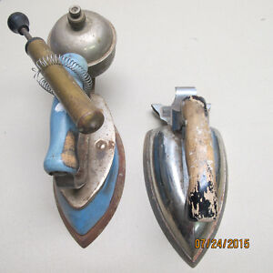 Two Antique Clothes Irons