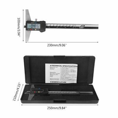 Steel Caliper 0-150mm 6 Digital Depth Gauge Vernier Stainless Mminch Imperial
