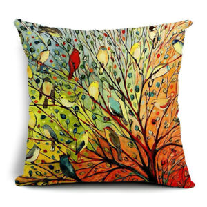 Colourful Autumn Pillow Case and Pillow x2