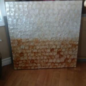 Large textured shell artwork