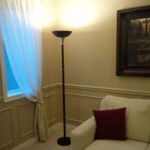 Floor Lamp - Black Metal with Chrome Accents