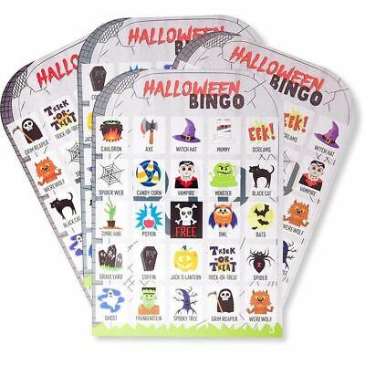 Juvale Halloween Bingo Party Game Set (36 Players)