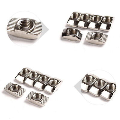 50pcs T-nuts For 20 Series Slot T-nut Sliding T Nut Hammer Drop In Nut M3m4m5