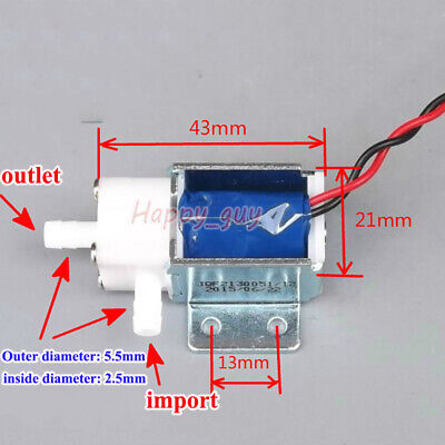 Dc 12v Micro Electric Solenoid Valve Nc Normally Open Mini Water Air Pump Valve