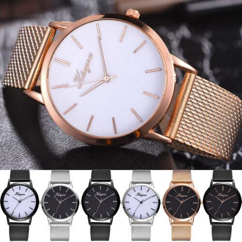 Luxuriös Damen Frauen Armbanduhr Silikon Freizeit Analog Quarz