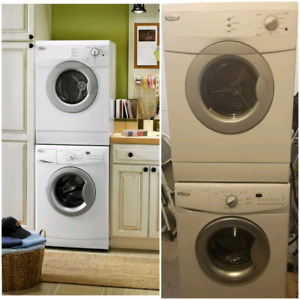 Apartment size whirlpool stackable washer and dryer
