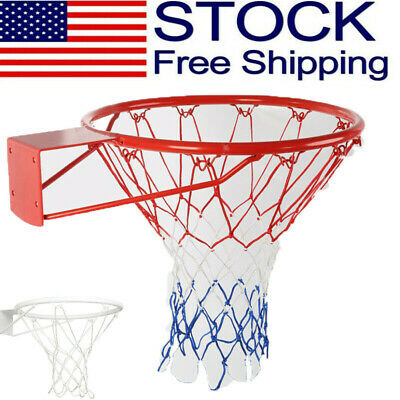 Professional Basketball Ring Hoop Net Wall Mounted Outdoor Hanging Basket USA