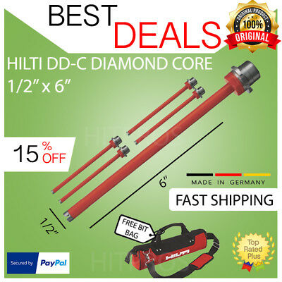 Hilti Diamond Core Bit Dd-c 12 X 6 T4 5-pack Brand New Fast Shipping