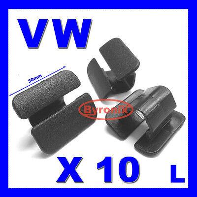 - VW BONNET HEAT INSULATION COVER LINING TRIM CLIPS GOLF POLO PASSAT VENTO X10