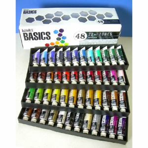 Liquitex Basics Acrylic Paint Tube 48-Piece Set-BRAND NEW