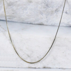 Sterling Silver ITALY TECHNIBOND 1mm Box Chain Necklace