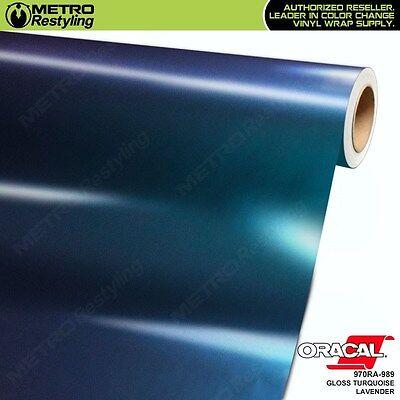 Turquoise Vinyl - ORACAL Series 970RA-989 GLOSS TURQUOISE LAVENDER Vinyl Vehicle Car Wrap Film