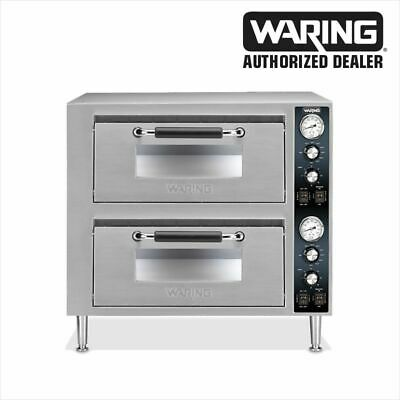 Waring Wpo750 Commercial Double Ceramic Deck Pizza Oven Dual Cntrl Factory Units