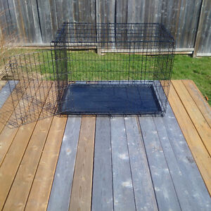 2 large dog crates for sale