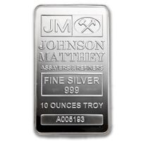10 oz Silver Bar Johnson-Matthey .999