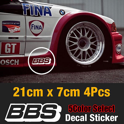 BBS Speed Mania Fashion Decal Sticker 210mm x 70mm (4Pcs) For All Vehicle