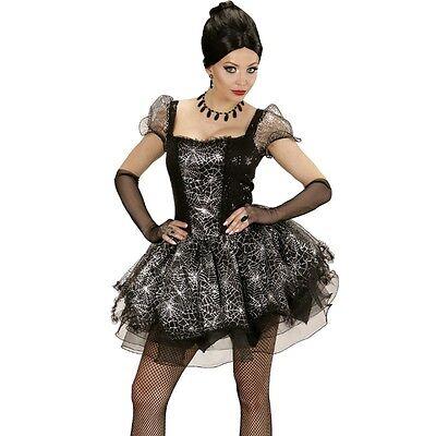 Sexy Spider Lady Spinnen Kleid  46/48 (XL) Damen Kostüm Schwarze Witwe 3534 ()