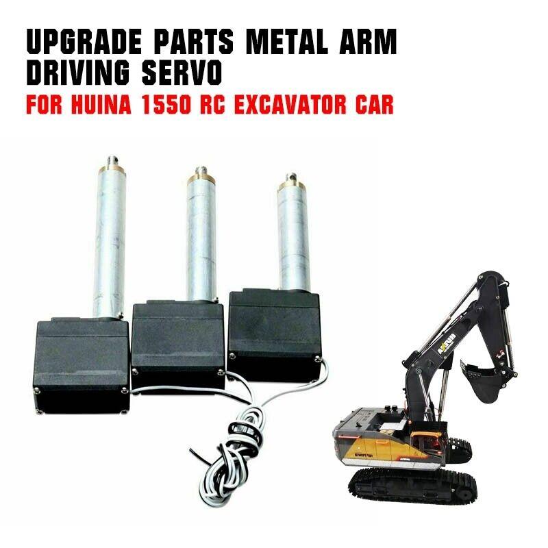 Car Parts - For Huina 1550 RC Excavator Car Upgrade Parts Metal Arm Driving Servo Parts 3PCS
