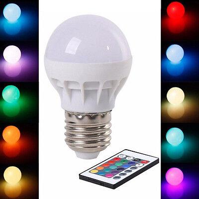 Lampe Birne E27 3W RGB LED Glühbirne Farbe ändern mit Fernbedienung B3X8 Farbe ändern Led Glühbirne