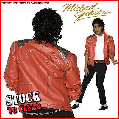 Fancy Dress MICHAEL JACKSON BEAT IT Jacket Red RRP £64.95
