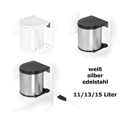 WESCO Einbau Abfallsammler Mülleimer rund 11/13/15 Liter silber, edelstahl, weiß Runde 13