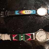 2 beaded First Nation watches
