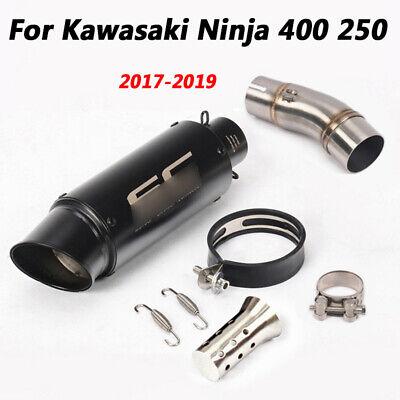 Exhaust Link Pipe - For Kawasaki Ninja 400 250 2017-2019 Slip Exhaust Muffler Pipe Link Connect Pipe