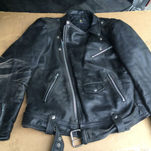 Awesome distressed leather motorcylce jacket