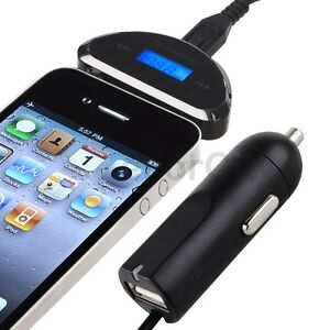 3.5 mm FM Transmitter+Car Charger for iPhone 5 5G 5th 4S 4 4G 3GS 3G ATT Verizon
