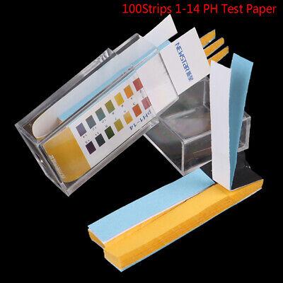 100 Strips 1-14 Ph Alkaline Acid Indicator Test Paper Water Urine Saliva S Kf