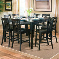 NEW! Black Extendable Dining Table Set! FREE Delivery!