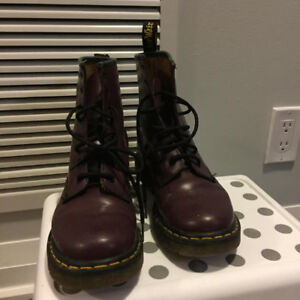 For sale: Purple Doc martens (used), size 38/US 7