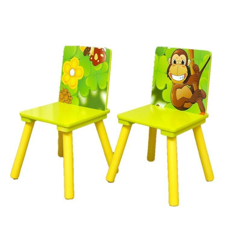 Kids Table and 2 Chairs For Toddler Baby Gift Desk Furniture Cartoon Sniper A+ 2