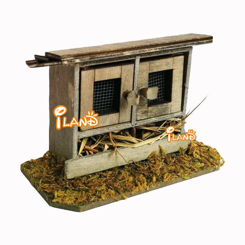 1:12 Dollhouse Mini Outdoor Garden Scene Villa Simulation Chicken Coop