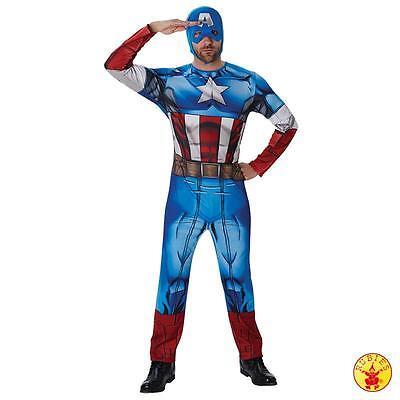 Erwachsene Avengers Kostüm (RUB Lizenz Herren Kostüm Captain America Classic Avengers Assemble Marvel)