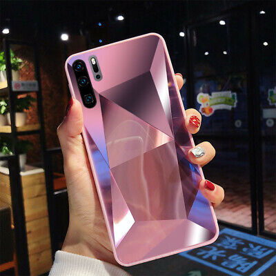 Mirror 3D Diamond Bumper Fitted Case Back Cover for Huawei P20 Pro P30 (Lite Mirror)