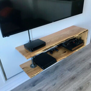 Floating Oak Shelves Live Edge Unit 48X13X13