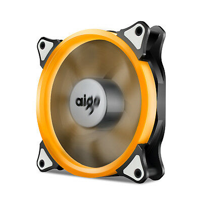 Aigo  Orange LED 120mm 12cm PC CPU Computer Case Cooling Quite Clear Fan (Orange Case Fan)