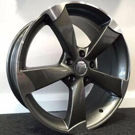 "19"" TTRS Style - Gloss Concave Alloy Wheels & Tyres. Suit Audi A4, A5 & A6. 5 x 112"