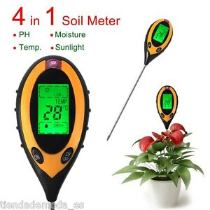4 in 1 LCD Professional Soil PH Moisture Sunlight Temperature Tester Multi Meter