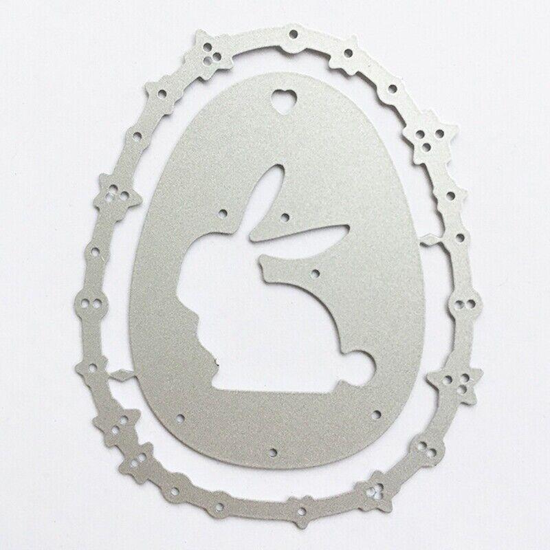 6 Stk Osterei Kaninchen Metall Stanzformen DIY Scrapbook Album Karte eNwrg