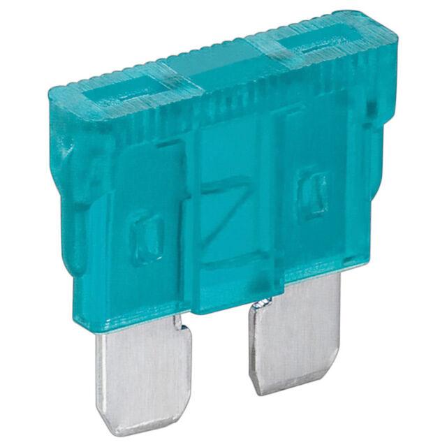 10 x KFZ-Sicherung 15 A Blau Flachsicherung Stecksicherung 4379