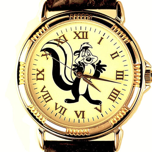 """Pepe Le Pew """"Passion Always"""" Unworn Rare Fossil Warner Bros Watch Collection $89"""