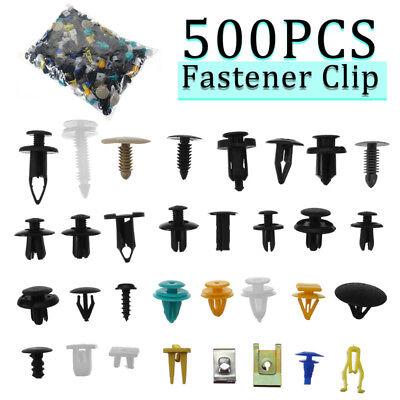 Car Parts - 500Pcs Mixed Auto Car Fastener Clip Bumper Fender Trim Plastic Rivet Door Panel