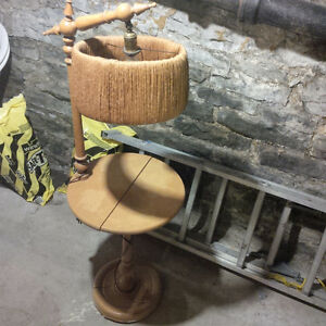 Antique Phone Stand and Lamp