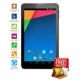 "7"" 3G Tablet Android 4.4Kitkat,UnlockedDualSim,2G 3G,Bluetooth,WIFI,GPS,1024X600 withFreeLeatherCase"