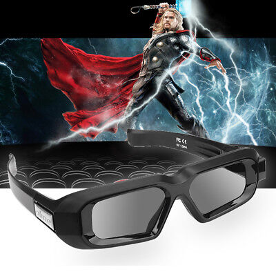 Active Shutter 3D Glasses Bluetooth USB Rechargeable for Epson/ Sony Samsung TV